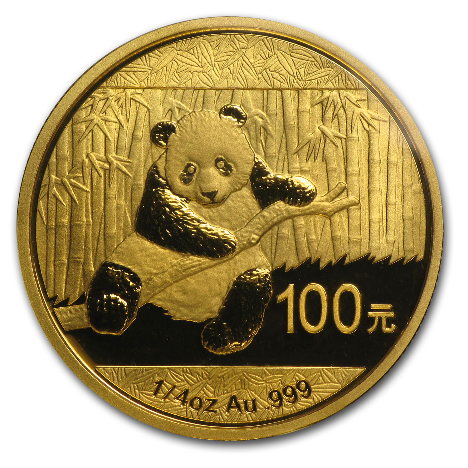 2014 China 1/4 oz Gold Panda BU (Sealed)